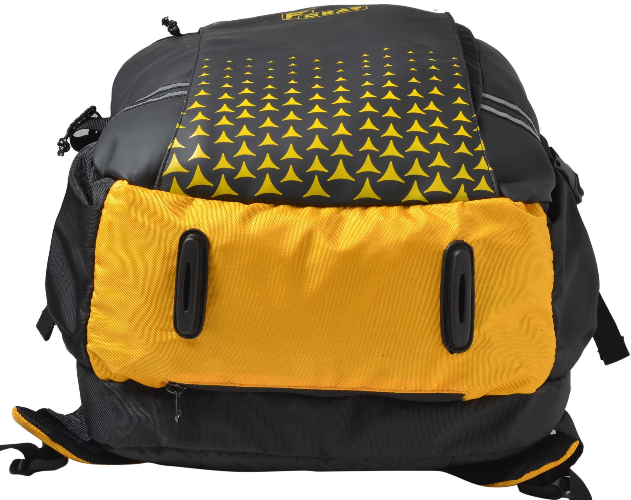 F Gear Lone Wolf 34 Liters Yellow Trekking Laptop Backpack With Rain Cover