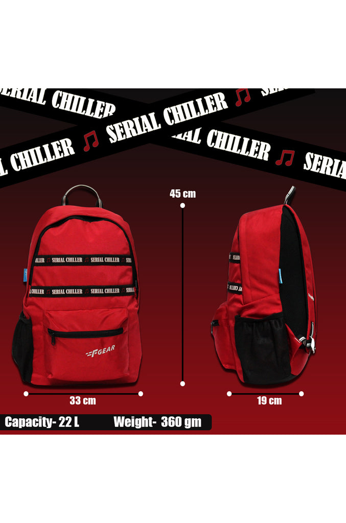 F Gear 22 Ltrs Inherent Red Casual Backpack (3399)