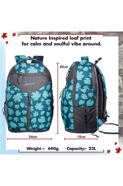 F Gear 23 Ltrs Soul Maple Blue Grey Laptop Backpack (3299)