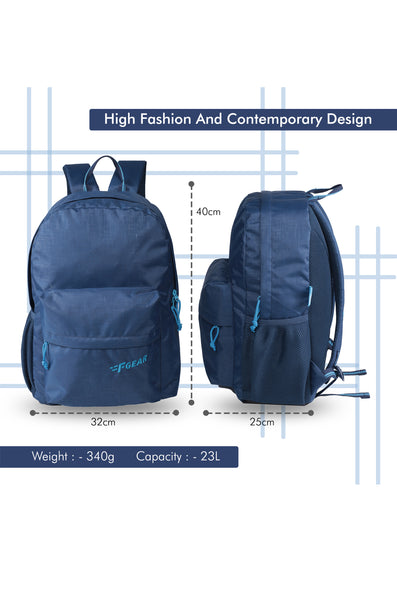 F Gear 23 Ltrs Emprise Navy Blue Backpack (3365)