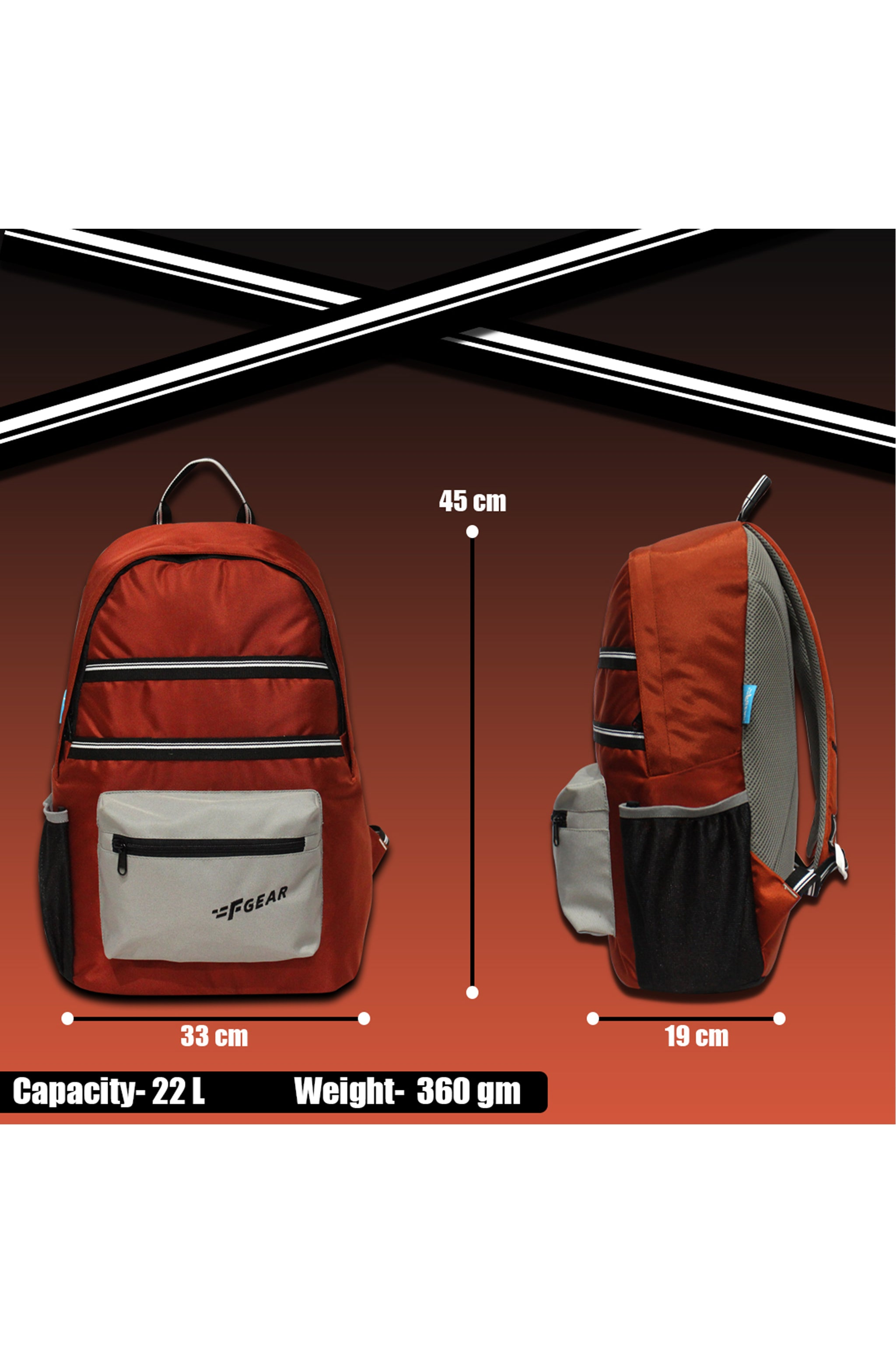 F Gear 22 Ltrs Inherent Picante Casual Backpack (3666)