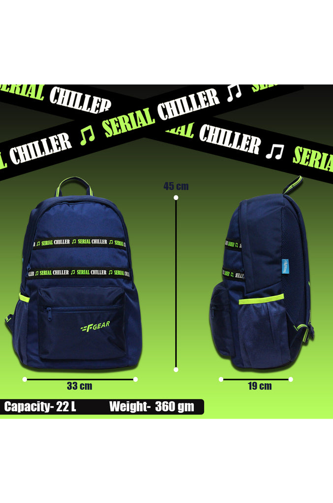 F Gear 22 Ltrs Inherent Navy Blue Casual Backpack (3401)