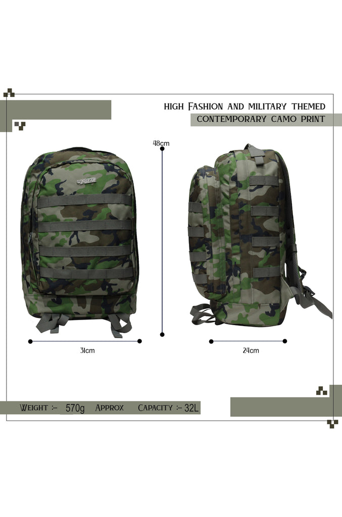 F Gear Tricoder Woodland A Camo 32 L Backpack (3438)