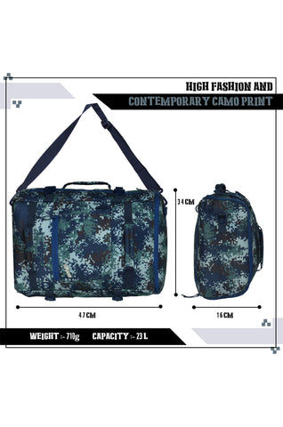 F Gear 23 Ltrs Raptor Marpat Navy Digital Camo Laptop Backpack (3289)