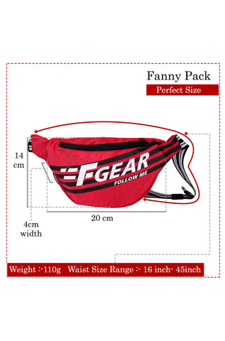 F Gear Enzo Red Adjustable Strap Fanny Pack (3303)