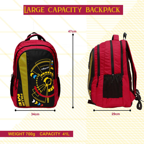 F Gear Focus Red 41 Ltrs Backpack (3321)