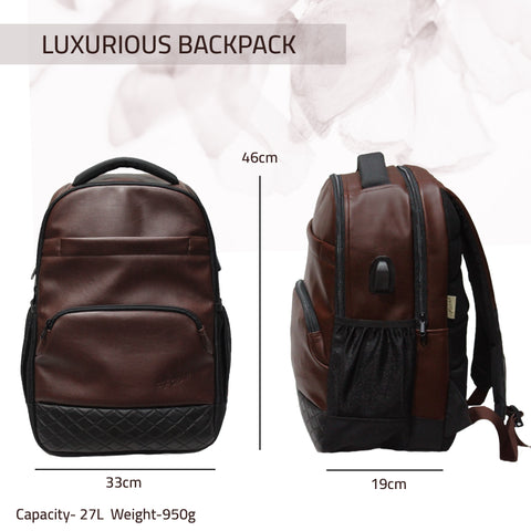 F Gear Luxur V2 Brown 27 Ltrs Laptop Backpack (3701)