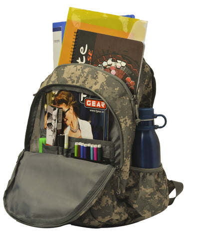 F Gear Military Crusader 30 Liter Backpack with Rain Cover (Marpat ACV Digital Camo)