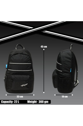 F Gear Inherent Black 22 Ltrs Casual Backpack (3664)