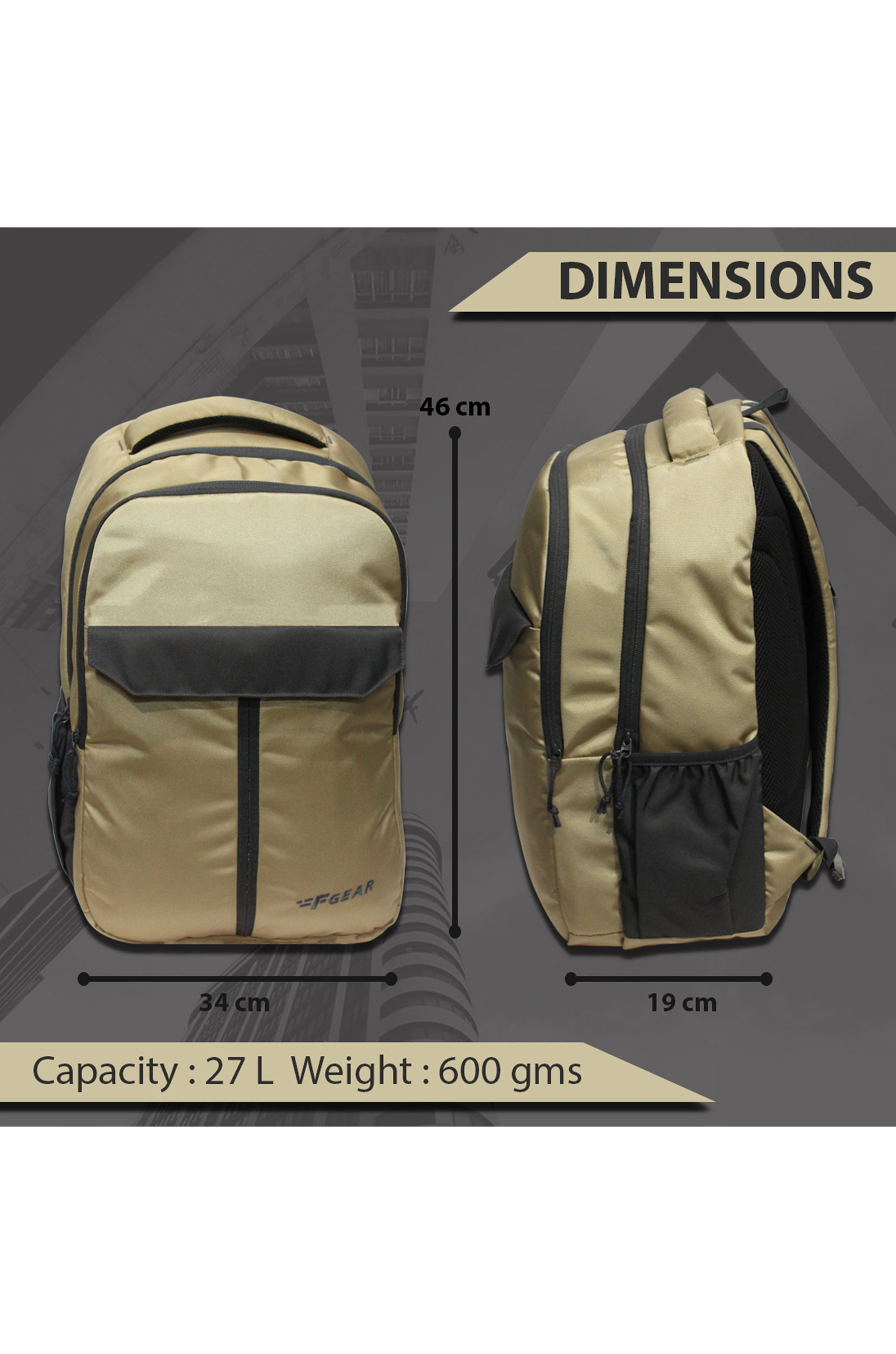 F Gear Amethyst 27 Ltrs Starfish Laptop Backpack (3443)