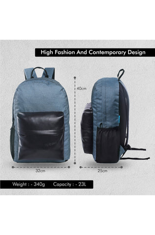 F Gear 23 Ltrs Emprise Melange Blue Black Casual Backpack (3362)