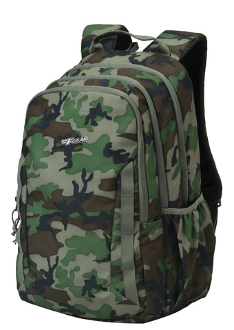 F Gear Military Raider Woodland A Camo 30 Liter Backpack with Rain Cover (2811)