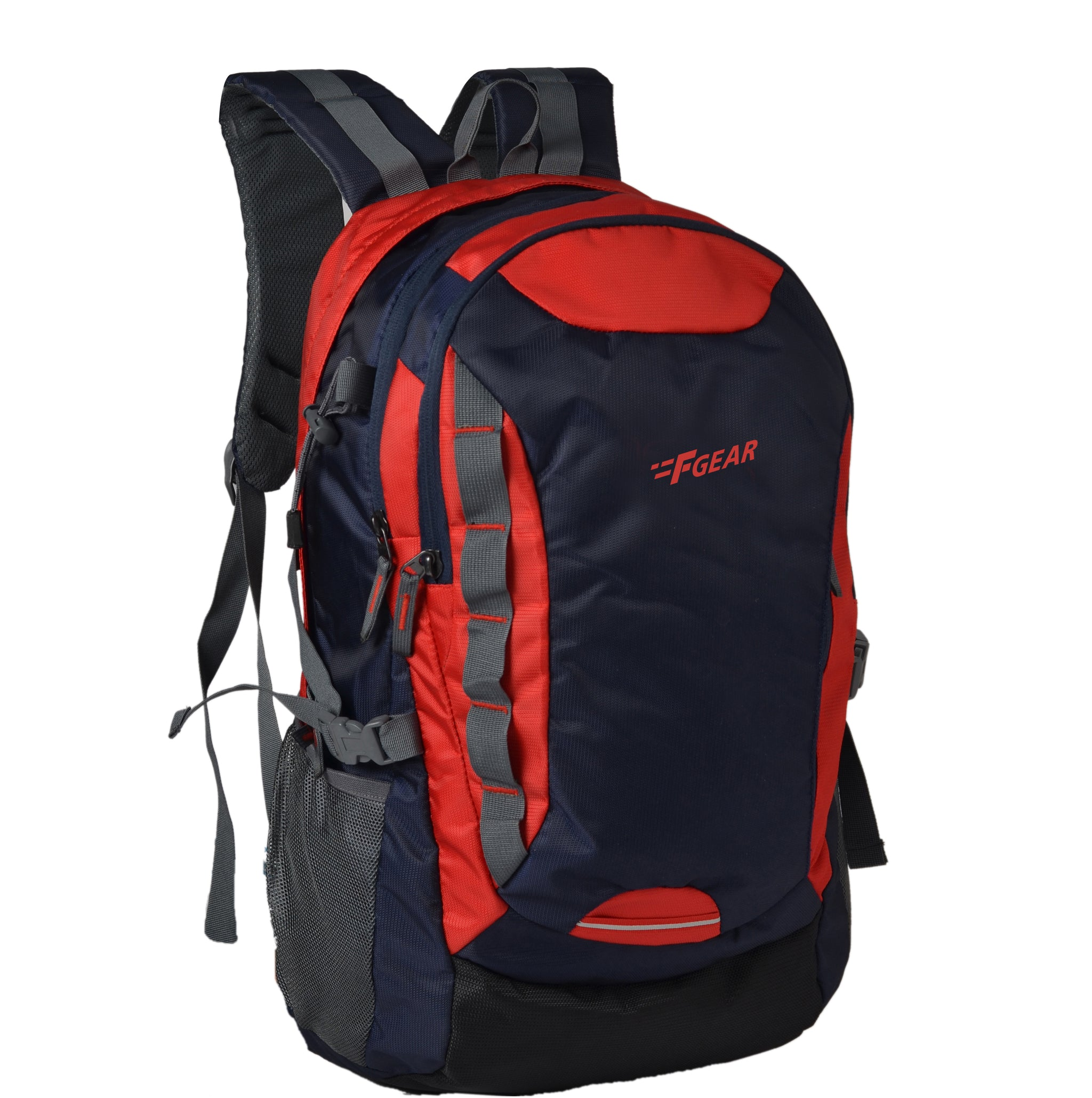 F Gear Fortune 27 Liters Laptop Backpack (Navy Blue, Red)