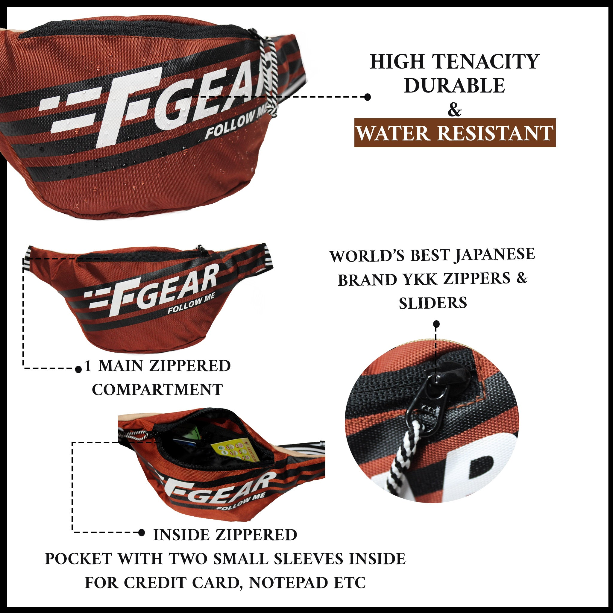 F Gear Enzo Picante Skin Sports Waist Bag (3710)