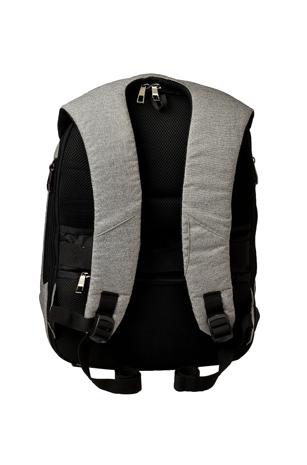 F Gear Lineage Anti Theft 22 Liters Laptop Backpack (Melange Grey, Black)