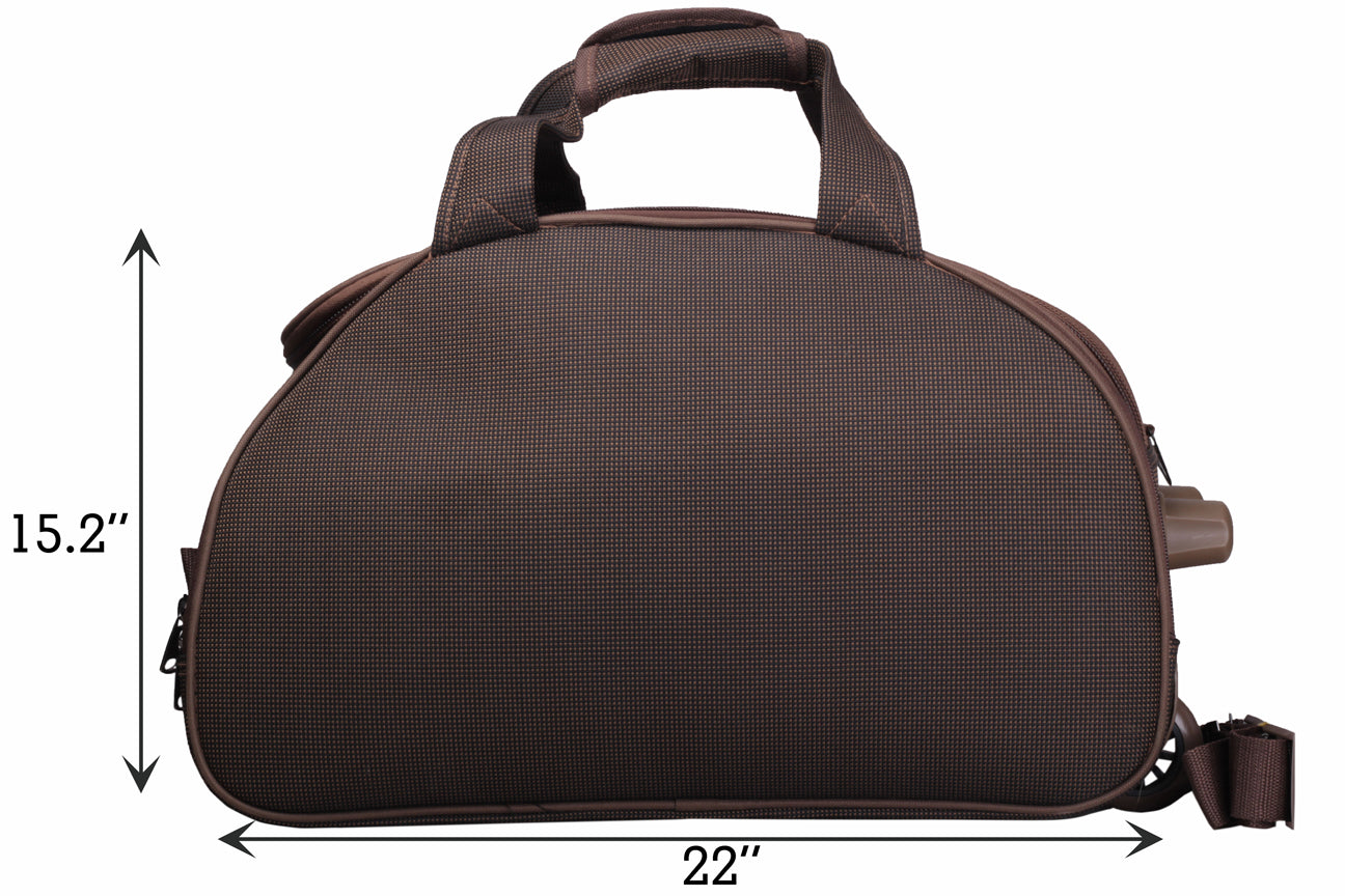 "F Gear Cooter 22"" Polyester 61 Ltrs Brown Travel Duffle (2389)"