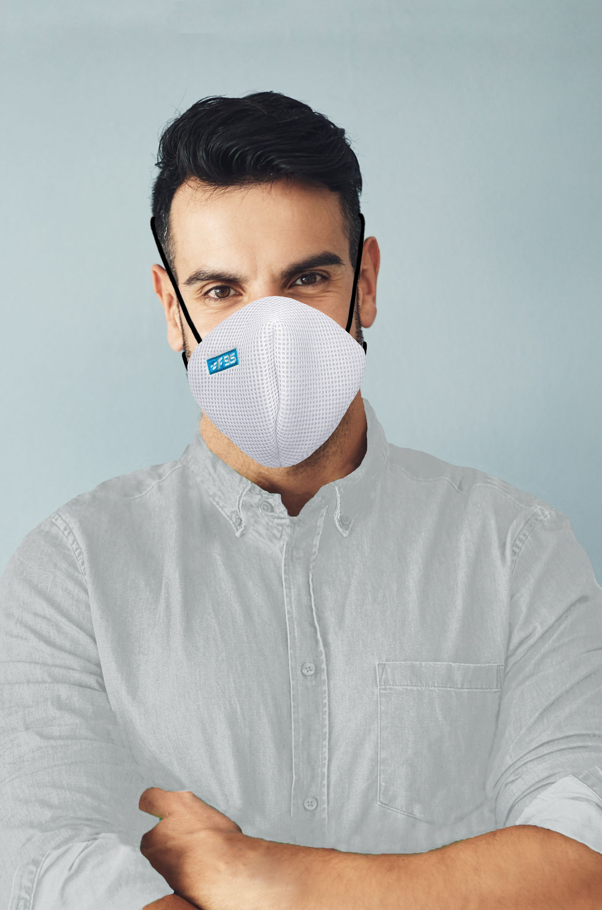 F Gear Pearl F95 Mask White Pack of 1 Safeguard 7 layer ISO CE SITRA lab certified >95% Bacteria Filtration