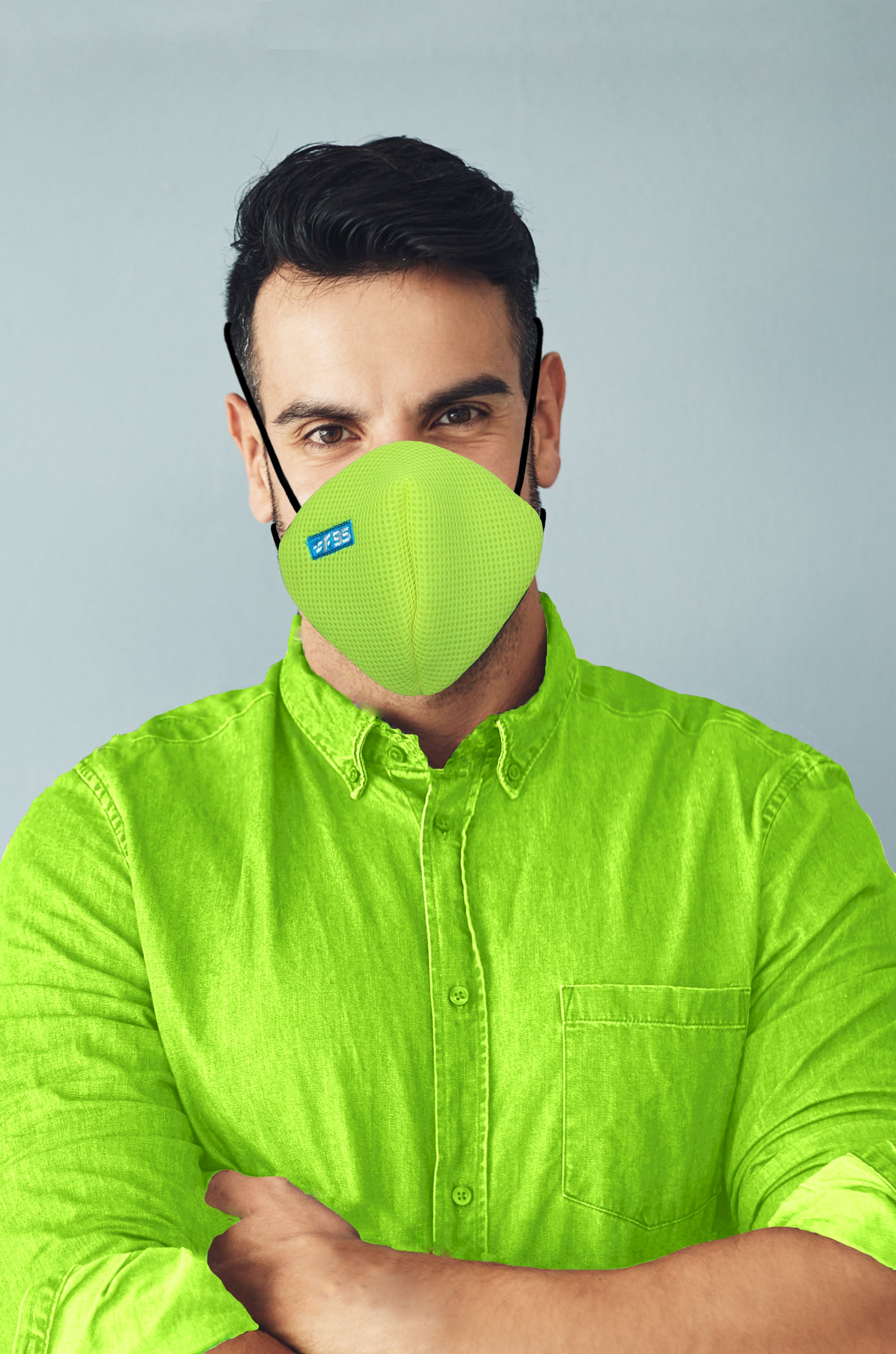 F Gear Pearl F95 Mask F Green Pack of 1 Safeguard 7 layer ISO CE SITRA lab certified >95% Bacteria Filtration