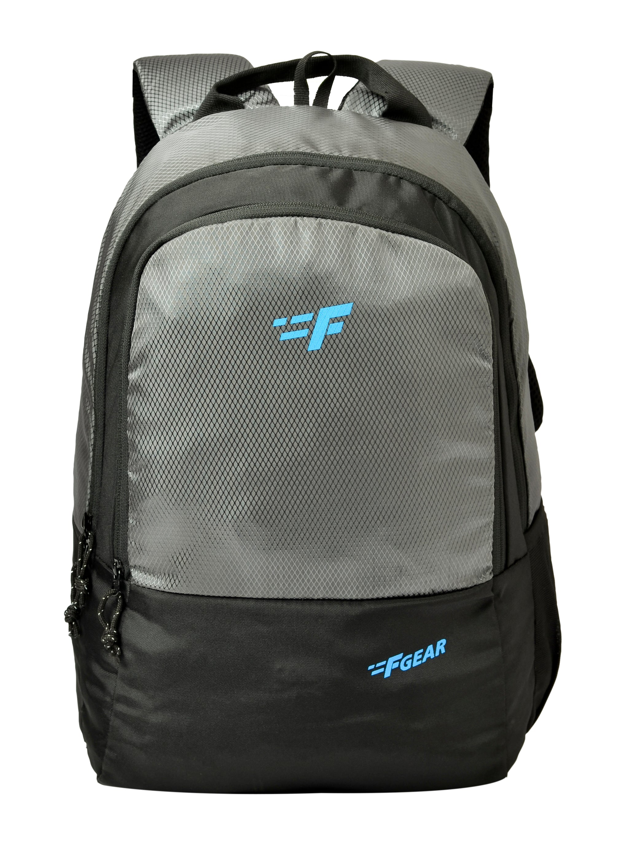 F Gear Parvis Grey Diamond, Black Guc 26 Liters Backpack (2961)