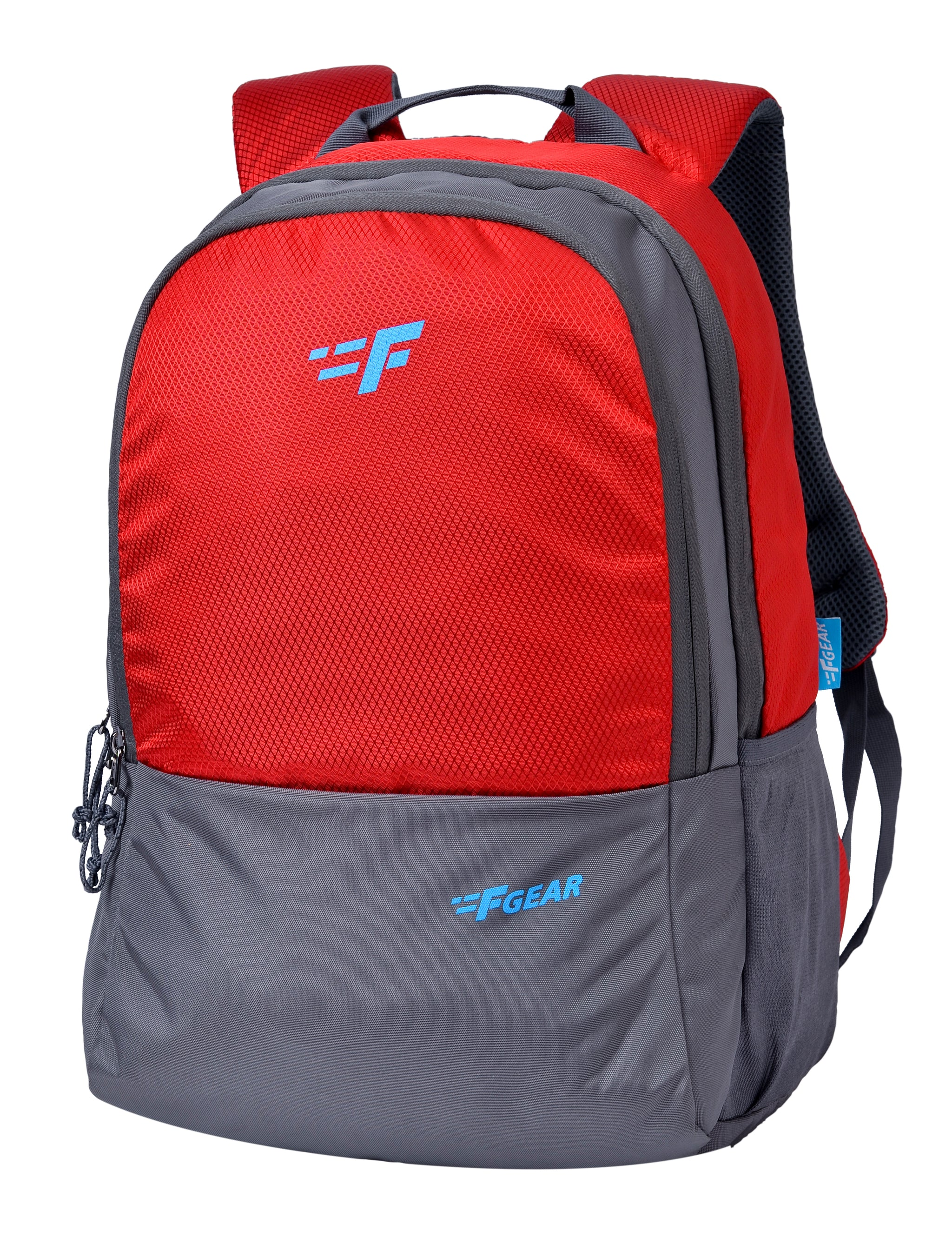 F Gear Parvis Red Diamond, Black Guc 26 Liters Backpack (2958)
