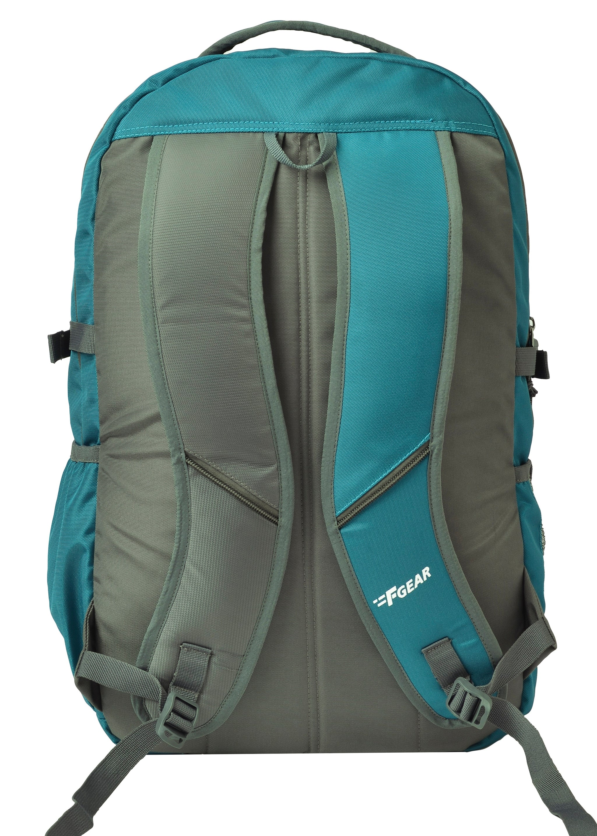 F Gear Blow Laptop Backpack With Rain Cover 32 Liters (Aqua Blue,Grey)