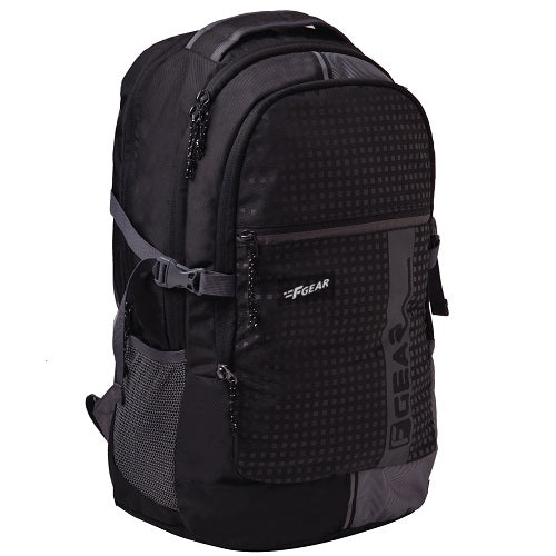 F Gear Blow Laptop Backpack With Rain Cover 32 Liters (Black,Grey)