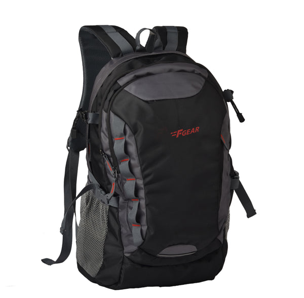 F Gear Fortune Black, Grey 27 Liters Laptop Backpack (2701)