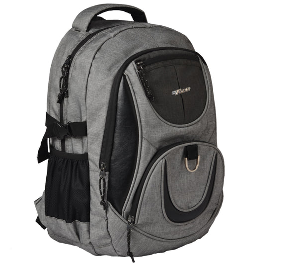 F Gear Axe Melange Light Grey 27 Ltrs Laptop Backpack with Rain Cover (2705)