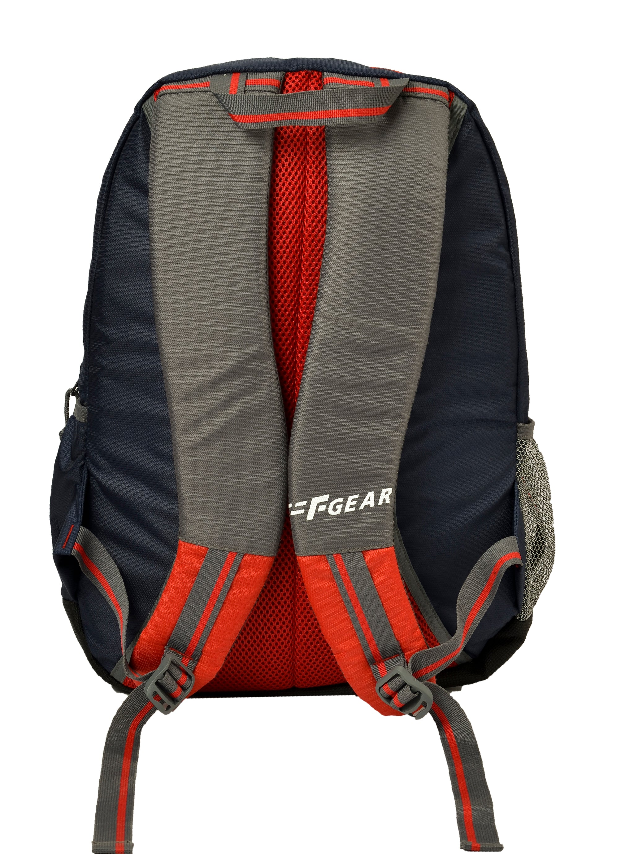F Gear Arrive 34 Liters Backpack (Navyblue, Red Grey)