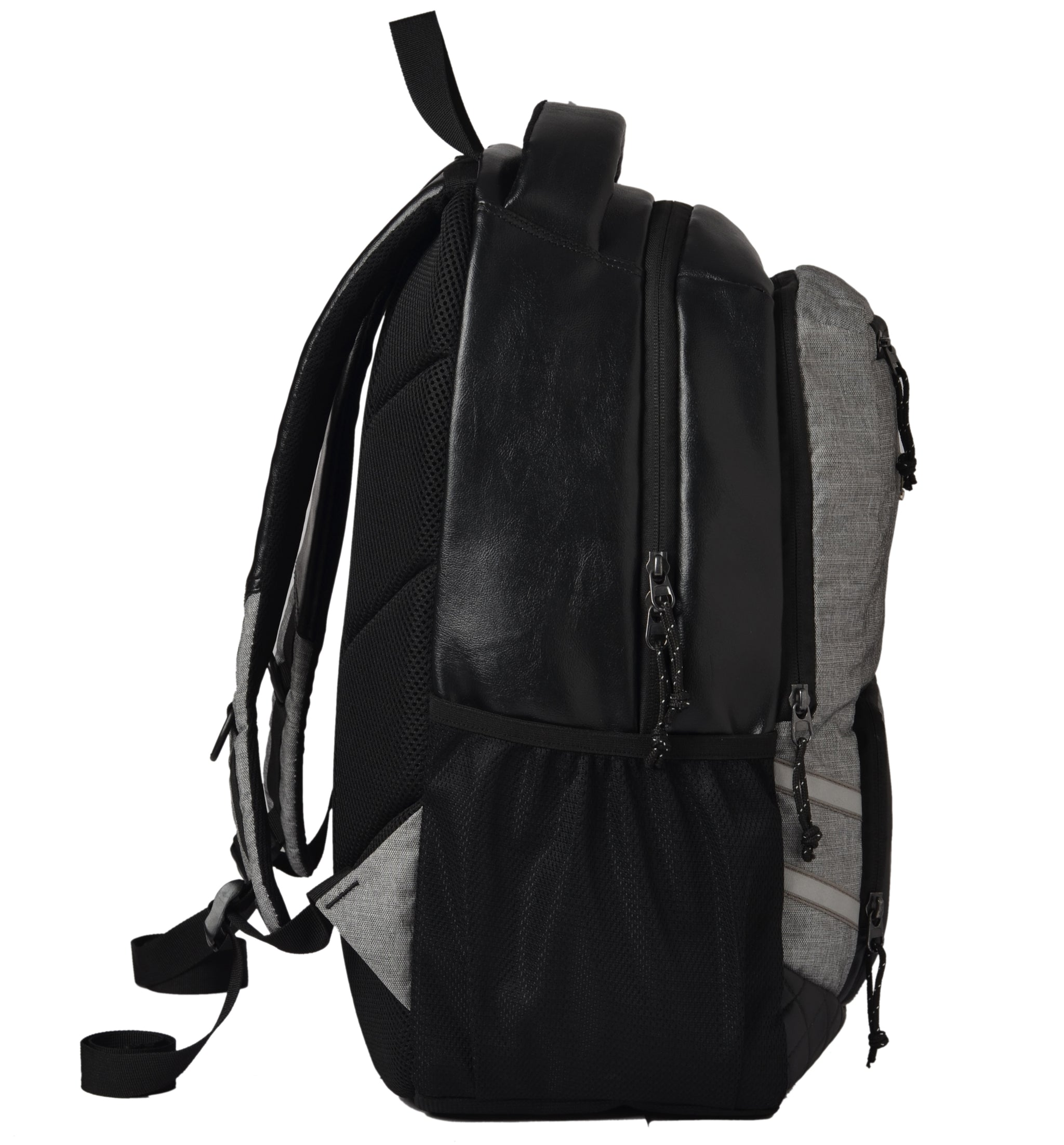 F Gear Intellect 32 Liters Laptop Backpack with Rain Cover (Black, Melange Grey)