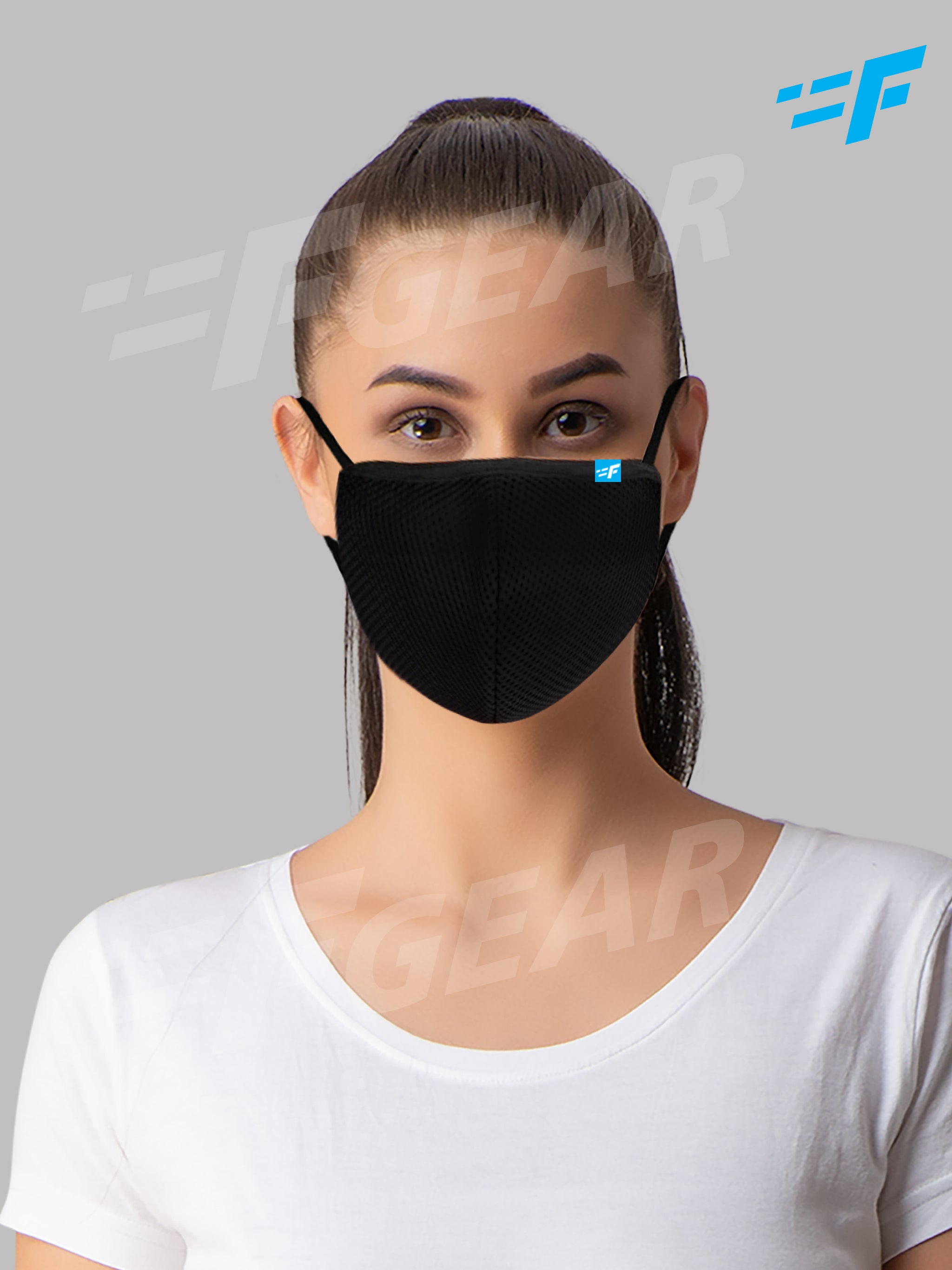 F95 Khaki Reusable Washable F Gear Mask PacK3