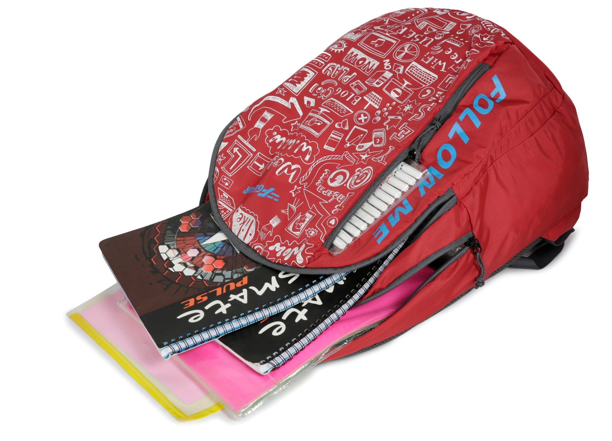 F Gear Doodle 25 Ltrs Red Casual Backpack (3166)