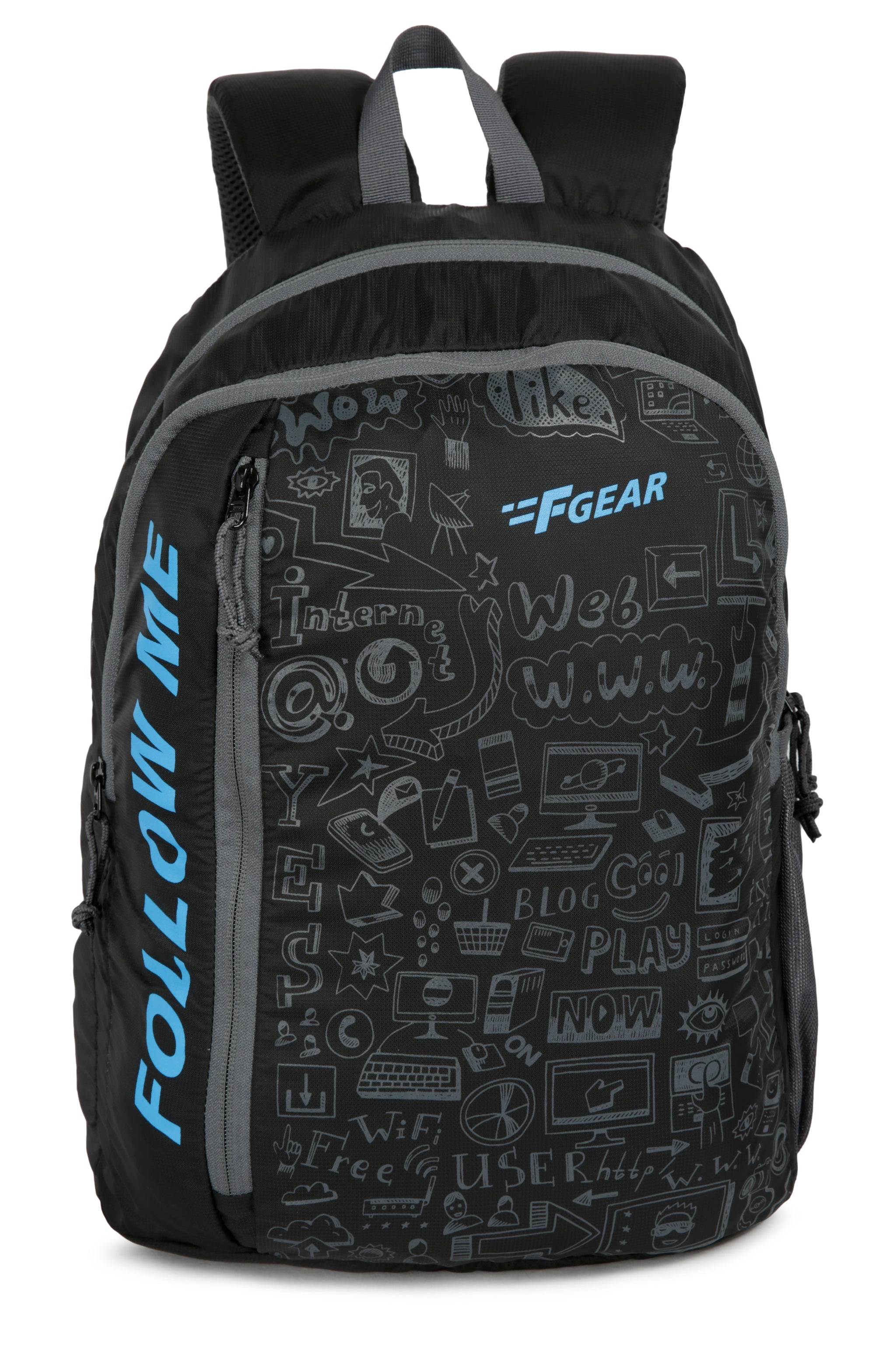 F Gear Doodle 25 Ltrs Black Casual Backpack (3165)