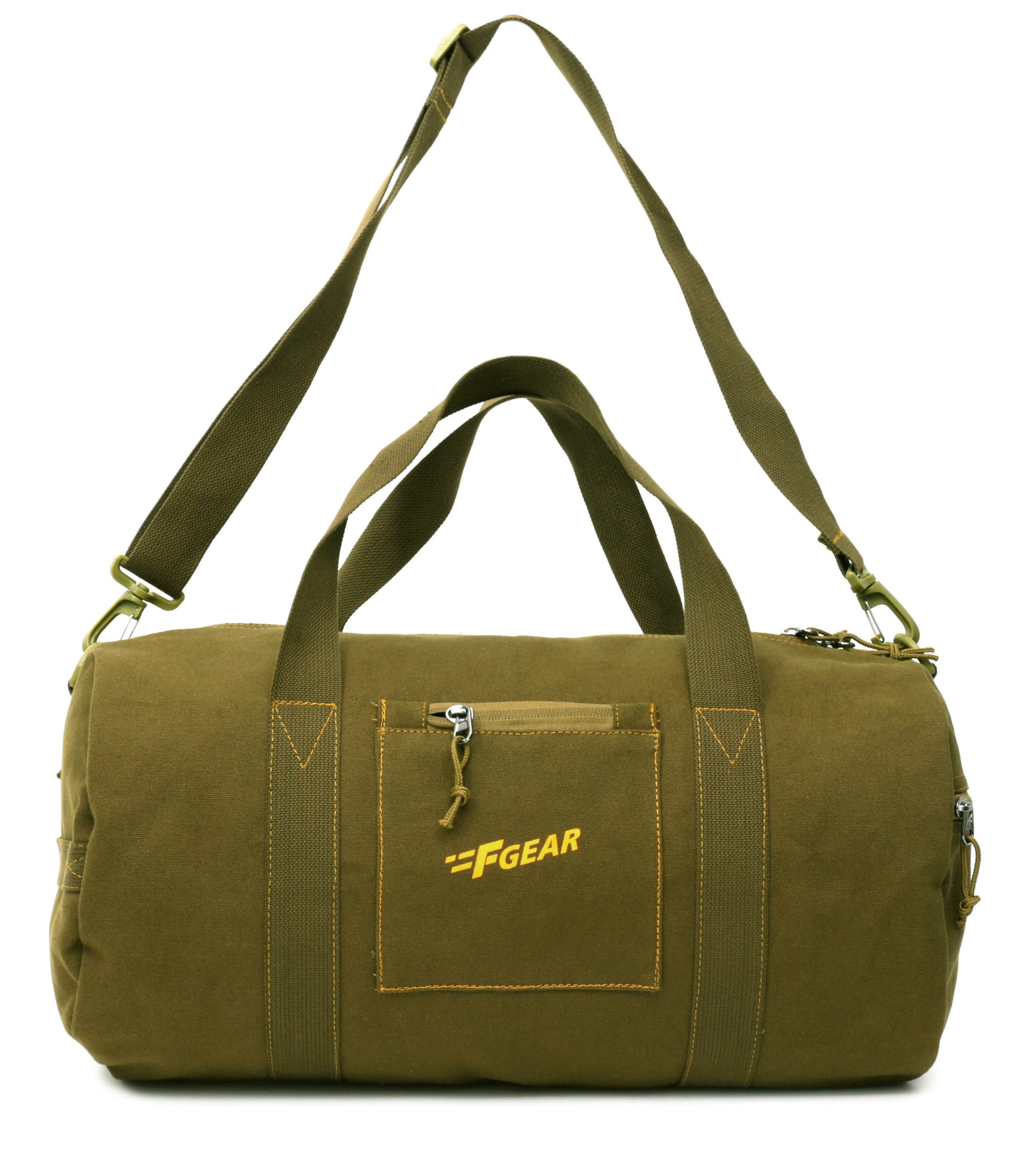F Gear Army Canvas 47 cms Olive Gym Bag (3004)