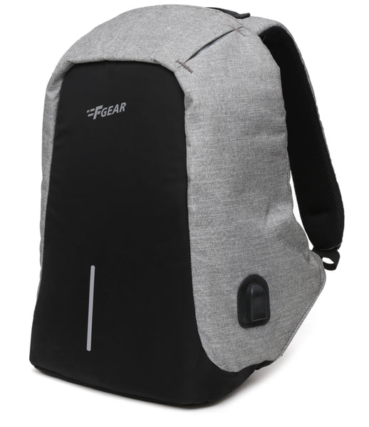 F Gear Stanton Anti Theft 22 Ltrs Melange Gry Blk Laptop Backpack (2951)