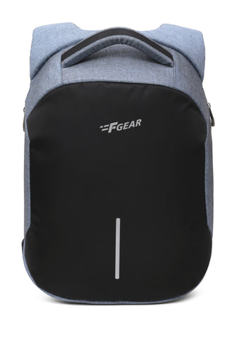 F Gear Lineage Anti Theft 22 Liters Laptop Backpack (Melange Blue)