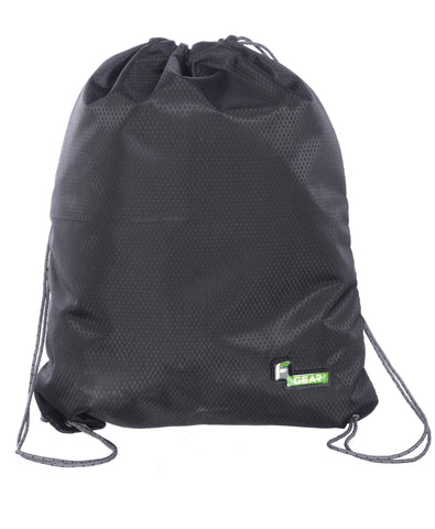 F Gear String V2 8 Ltrs Nylon Black Gym Bag