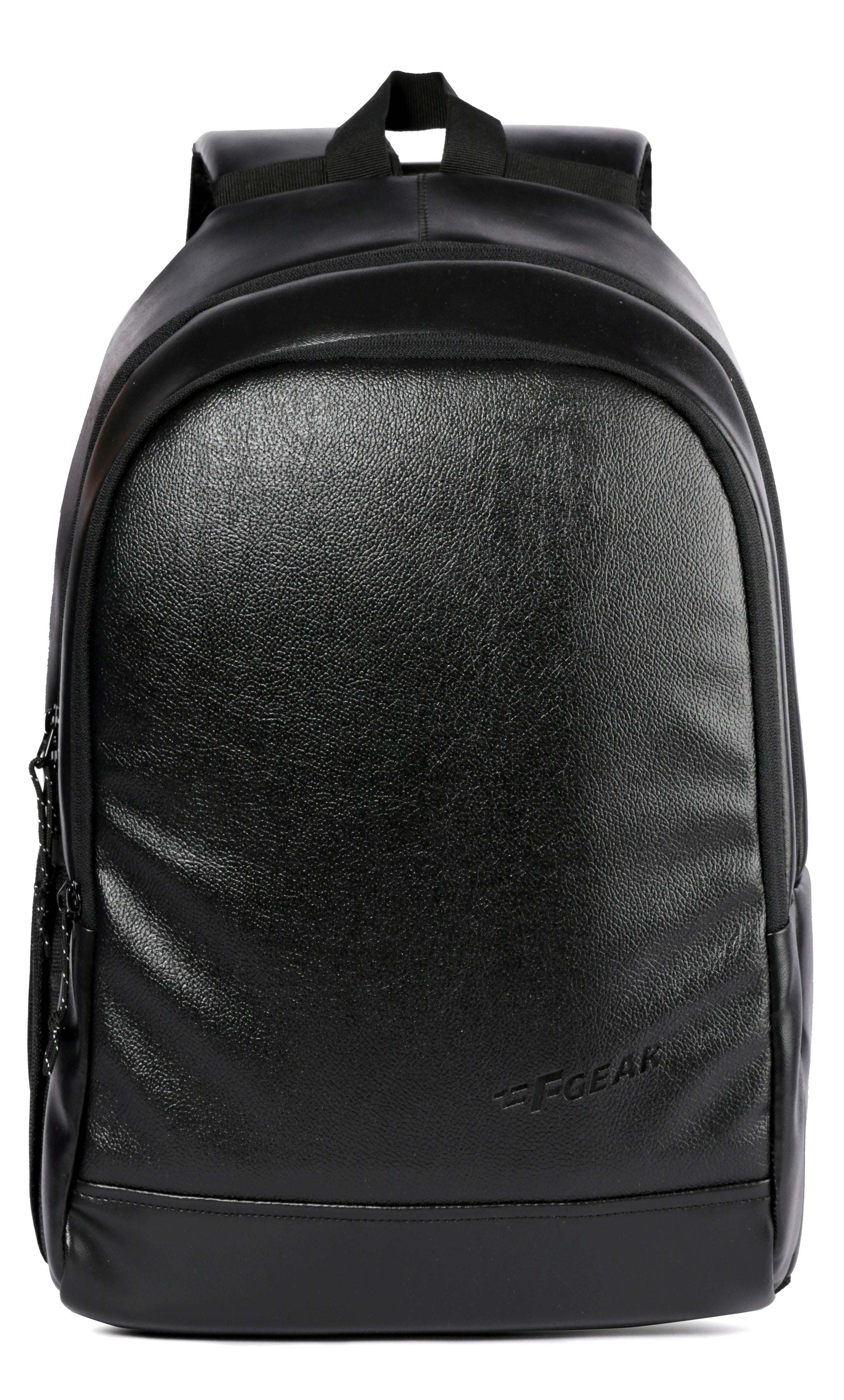 F Gear Castle Art 24 Liters Black Leather Backpack