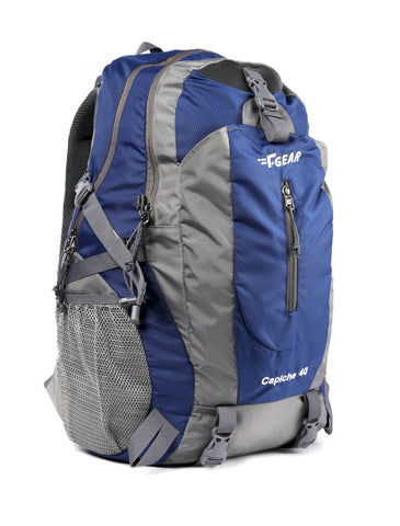 F Gear Capiche 40 Ltrs Navy Blue Grey Rucksack (3136)