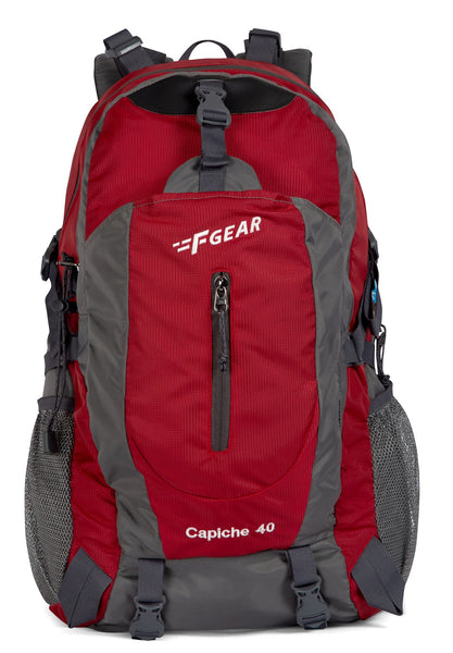 F Gear Capiche 40 Ltrs Red Grey Rucksack (3134)