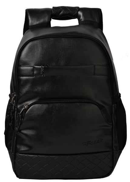 F Gear Luxur Anti Theft 25 Liters Laptop Backpack (Black)