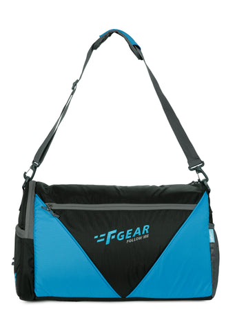 F Gear X Gym Polyester 30 cms Black Azure Blu Gym Bag (3183)