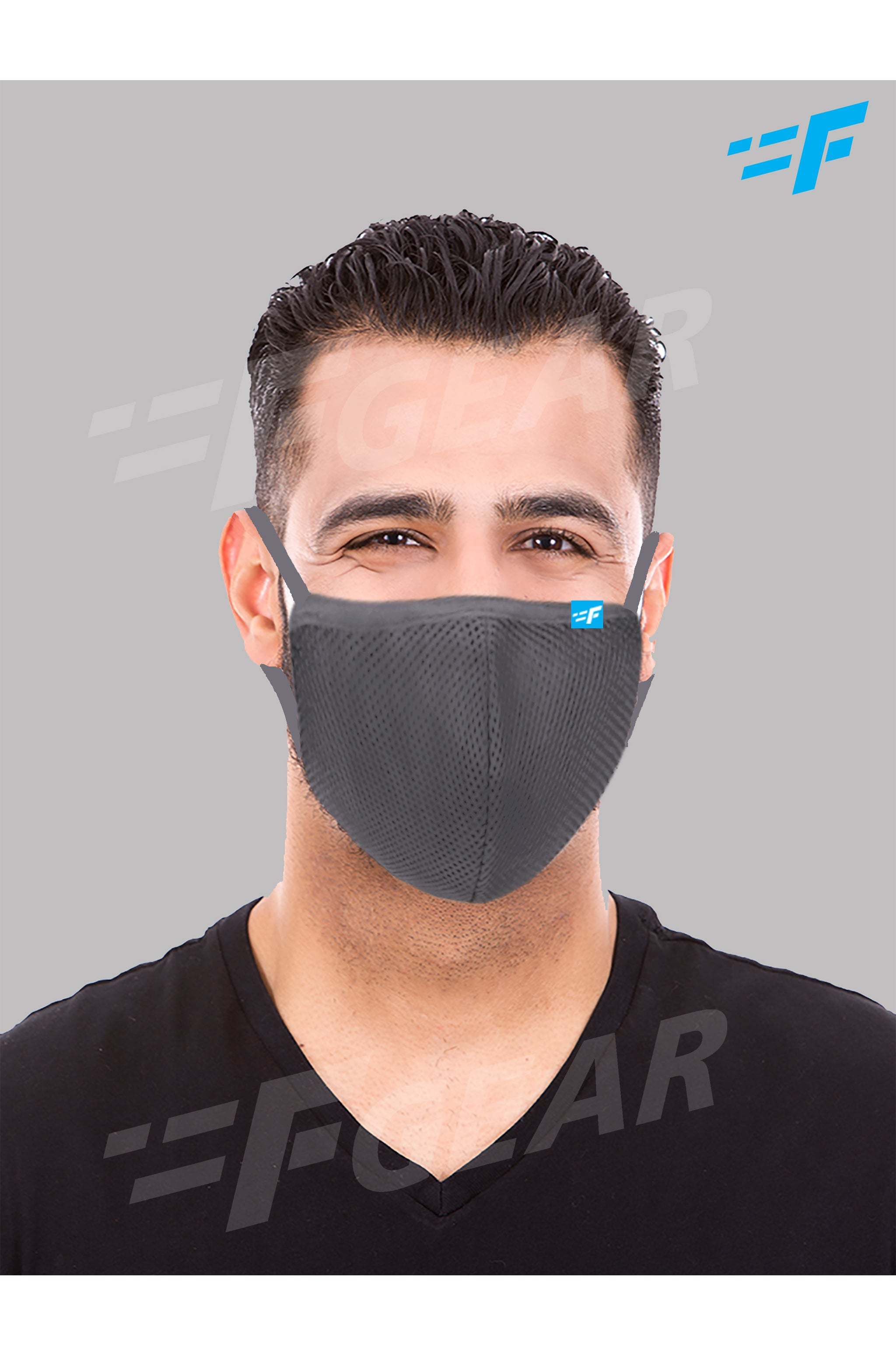 7layer F95 CE ISO SITRA Lab tested >95% BFE reusable washable Safeguard mask Dark Grey color Pack of 1