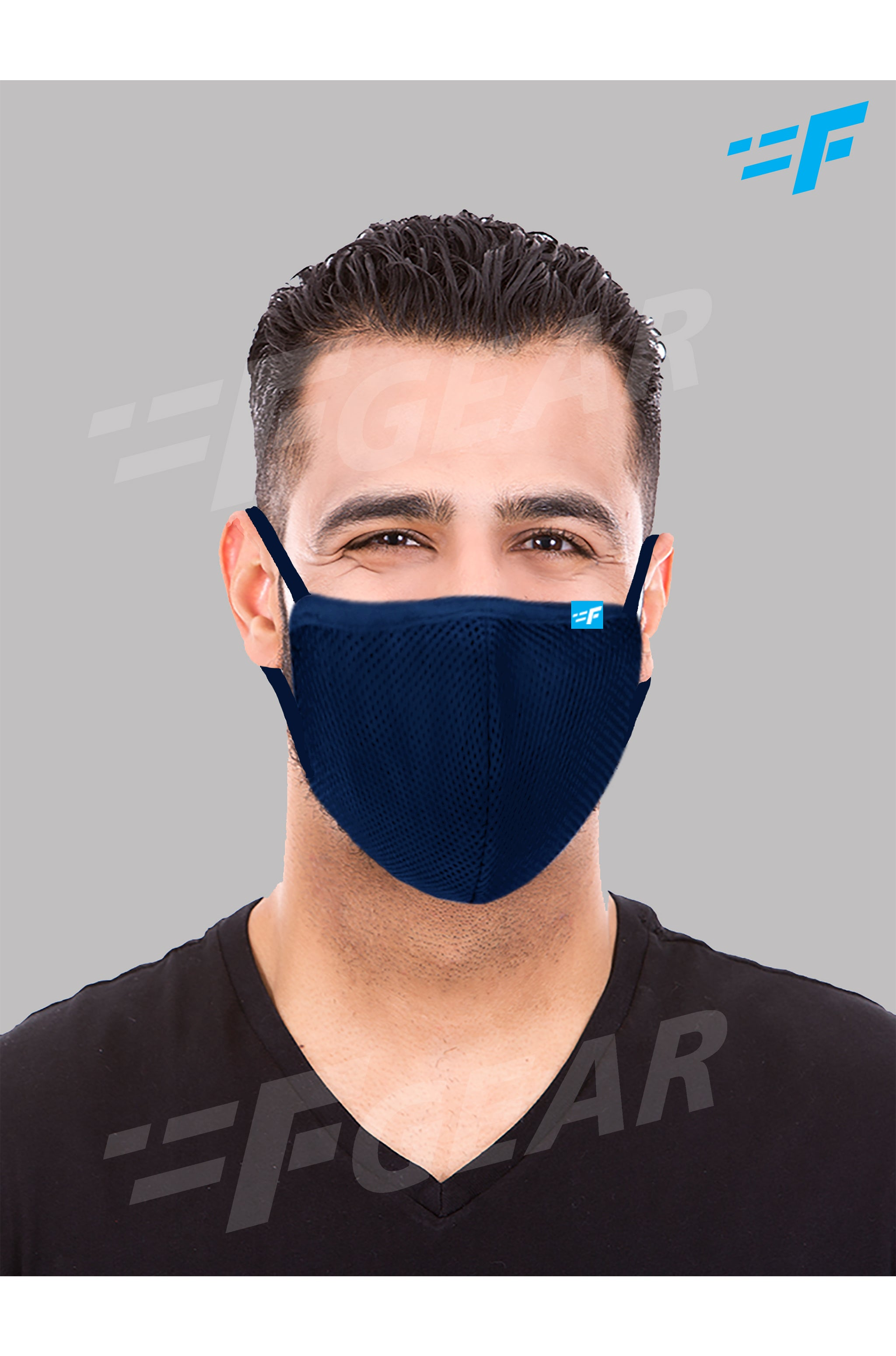 7layer F95 CE ISO SITRA Lab tested >95% BFE reusable washable Safeguard mask Navy Blue color Pack of 1