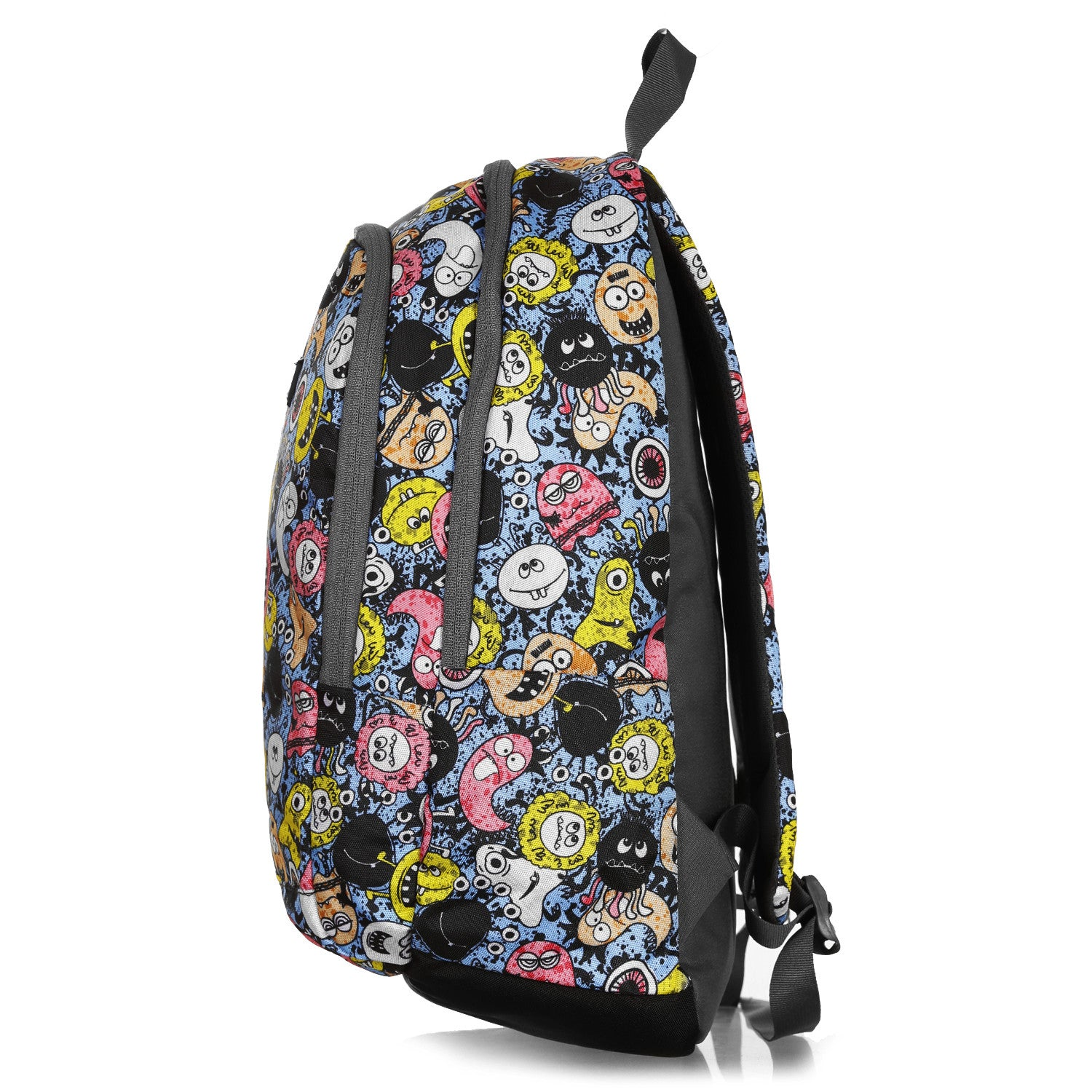 F Gear Castle Smiley Blue Black 22 L Polyester Backpack (3351)