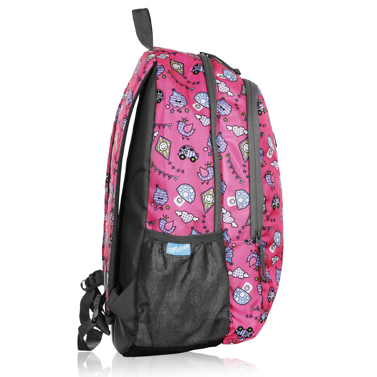 F Gear Castle Kites Pink Grey 22 L Polyester Backpack (3354)