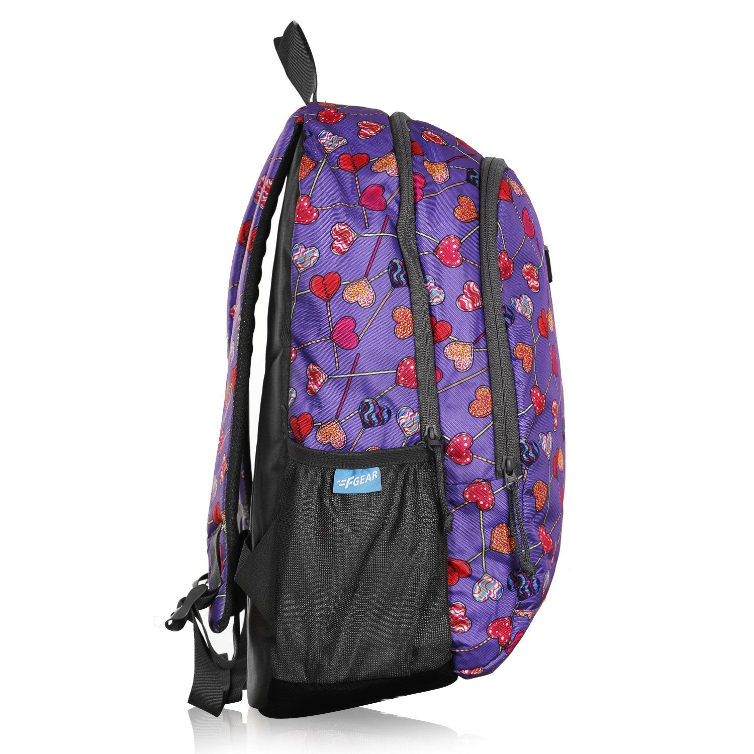F Gear Castle Hearts Violet  22 L Polyester Backpack (3348)