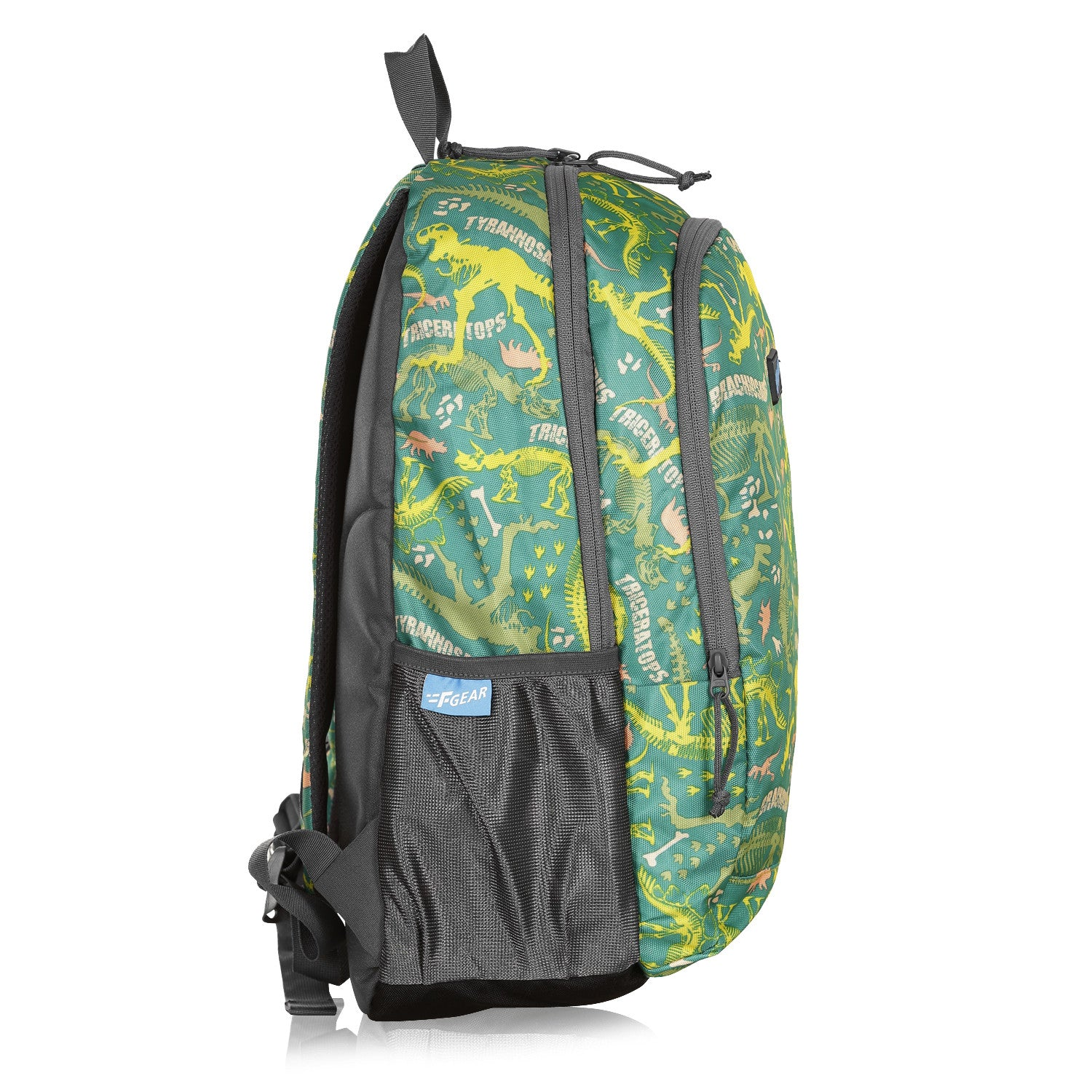 F Gear Castle Dino Green 22 L Polyester Backpack (3349)
