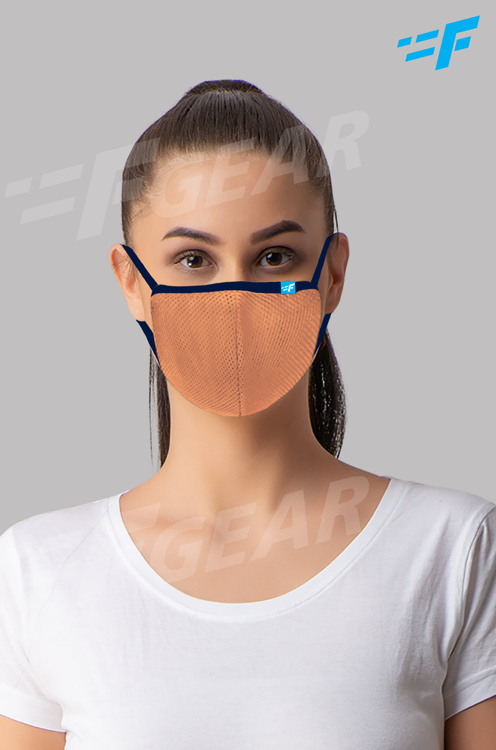 7layer F95 CE ISO SITRA Lab tested >95% BFE reusable washable Safeguard mask Skin color Pack of 1