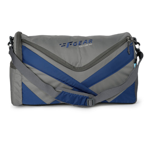 F Gear X Gym Polyester 30 cms Grey Nb Gym Bag (3182)